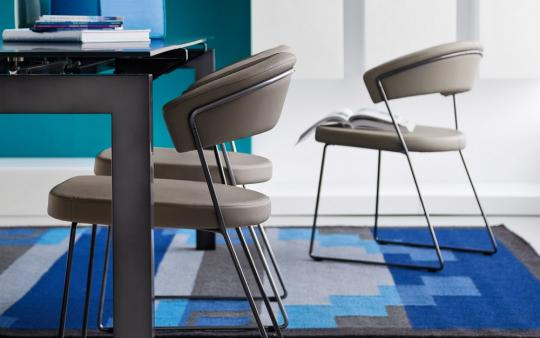 Connubia by Calligaris Kufenstuhl New York CB1022 Leder