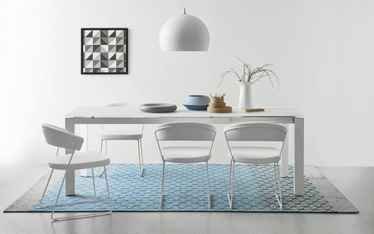 Connubia by Calligaris Kufenstuhl New York CS1022 Kunstleder