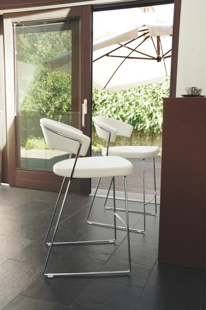 Connubia by calligaris barhocker new york cb1087 leder in for Sessel york leder