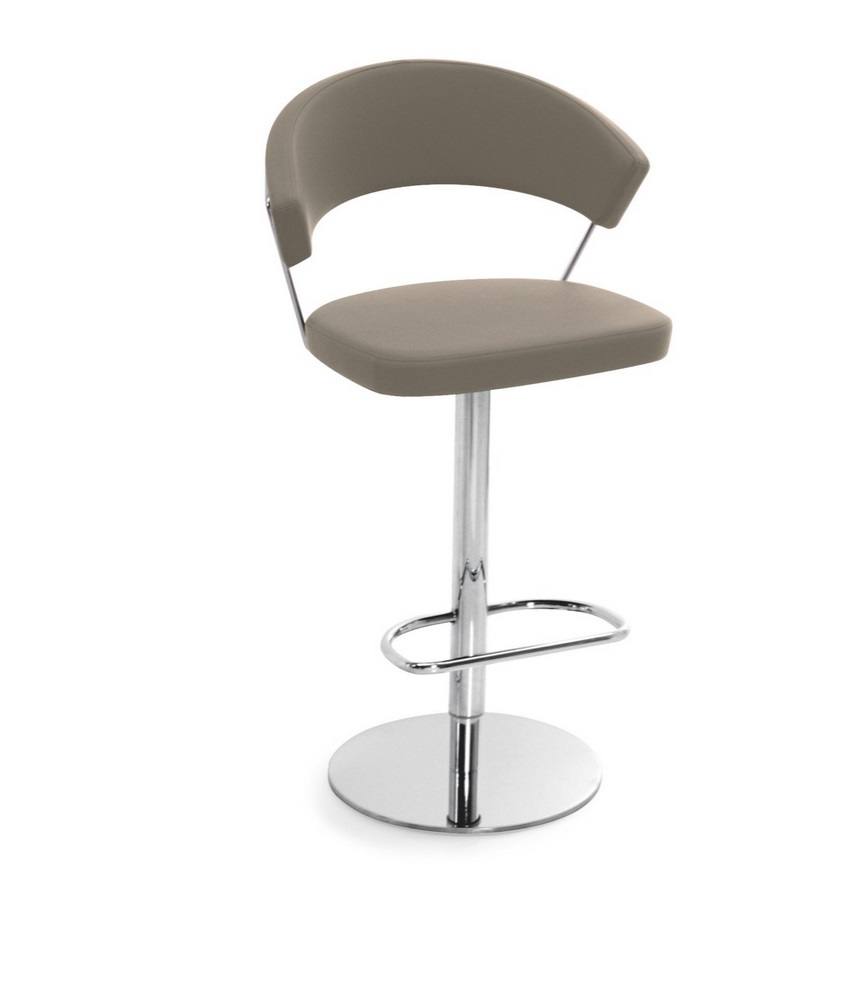 Connubia by calligaris barhocker new york cb1088 leder in for Barhocker leder