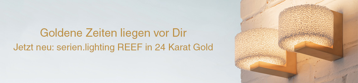 Serien.Lighting Lampe Reef 24 Karat Gold